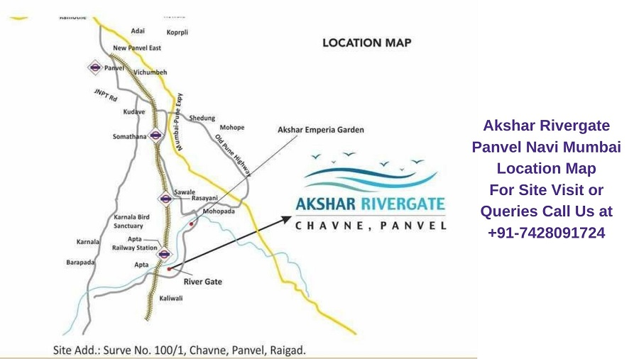 Akshar Rivergate Panvel Navi Mumbai Location Map