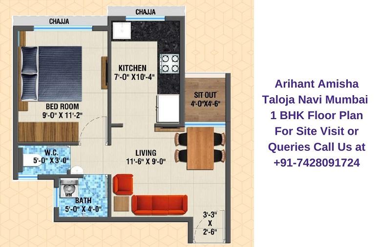 Arihant Amisha Taloja Navi Mumbai 1 BHK Floor Plan