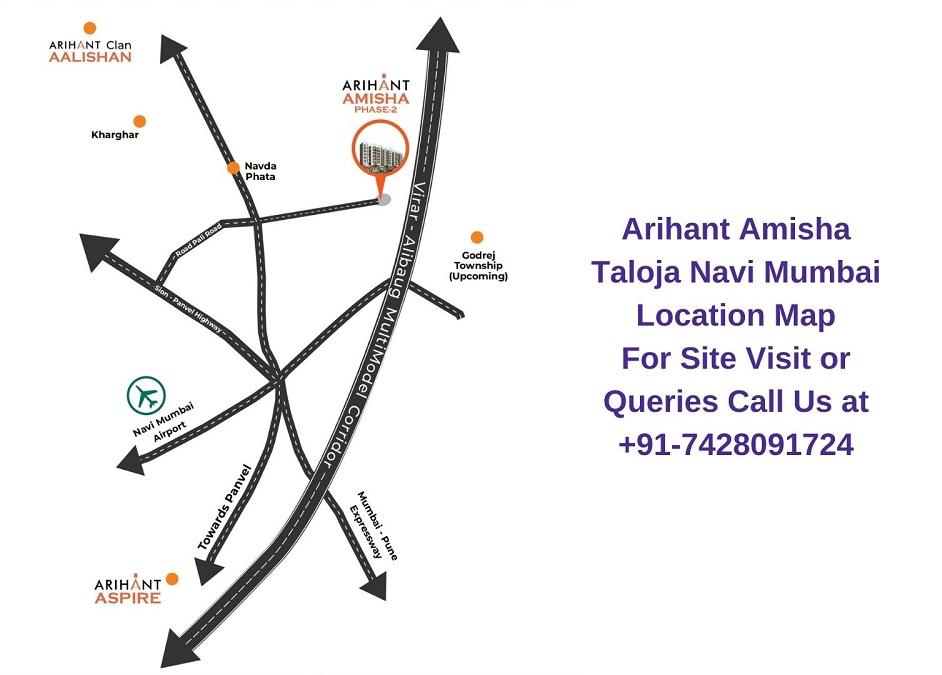 Arihant Amisha Taloja Navi Mumbai Location Map