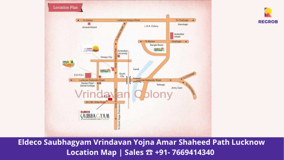 Eldeco Saubhagyam Vrindavan Yojna Lucknow Location Map