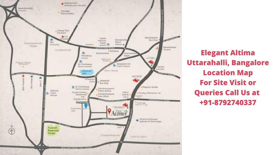 Elegant Altima Uttarahalli, Bangalore Location Map