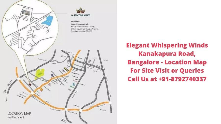 Elegant Whispering Winds Kanakapura Road, Bangalore Location Map