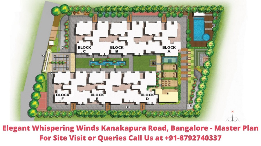 Elegant Whispering Winds Kanakapura Road, Bangalore Master Plan