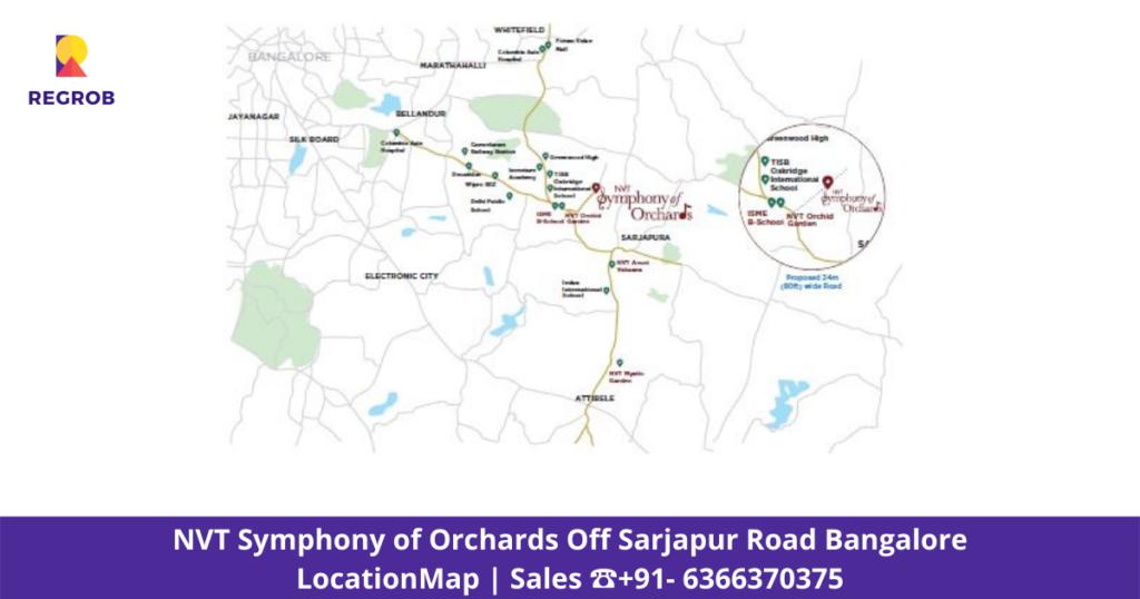 NVT Symphony of Orchards Villa Location map