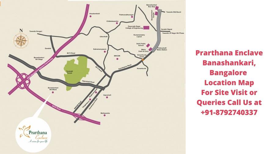 Prarthana Enclave Banashankari, Bangalore Location Map
