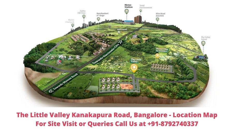 The Little Valley Kanakapura Road, Bangalore Location Map