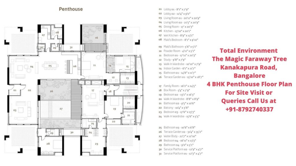 Total Environment The Magic Faraway Tree 4 BHK Floor plan