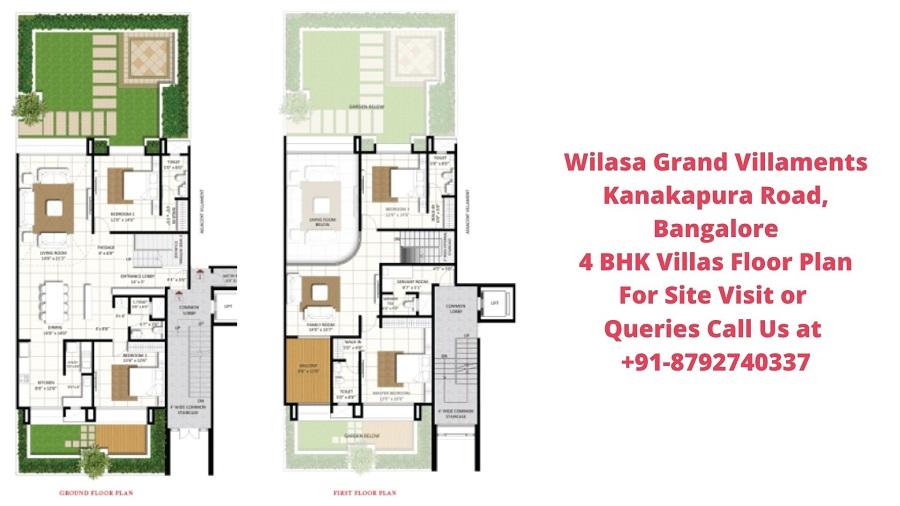 Wilasa Grand Villaments Kanakapura Road, Bangalore 4 BHK Villa Floor Plan