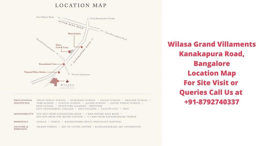 Wilasa Grand Villaments Kanakapura Road, Bangalore Location Map