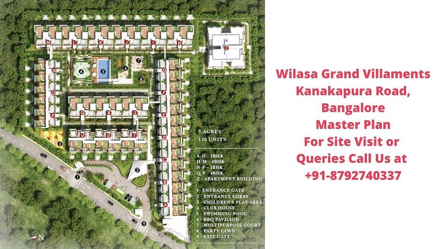 Wilasa Grand Villaments Kanakapura Road, Bangalore Master Plan
