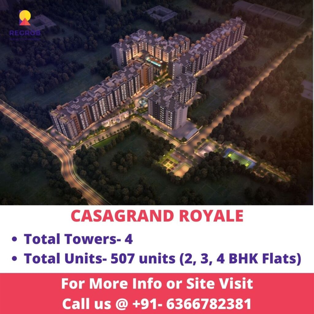 Aerial view of Casagrand Royale