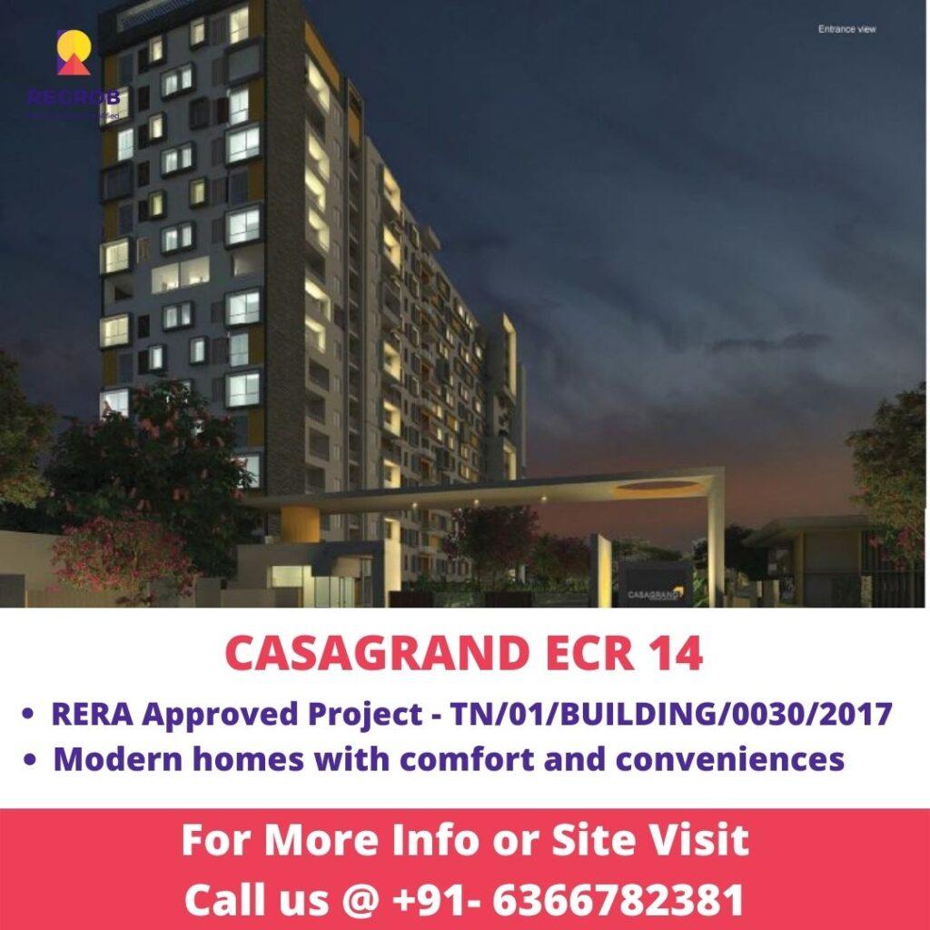 Main Entrance view of Casagrand ECR14