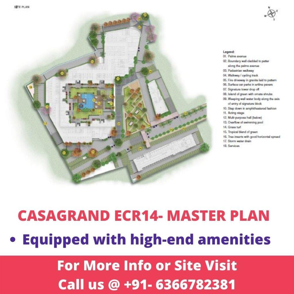 Master Plan of Casagrand ECR14