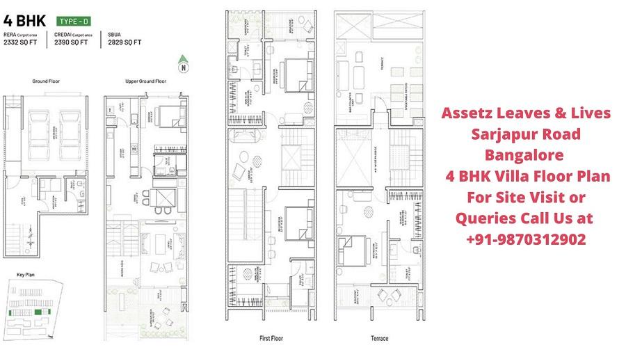 Assetz Leaves & Lives Sarjapur Road Bangalore 4 BHK Villa Floor Plan