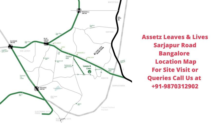 Assetz Leaves & Lives Sarjapur Road Bangalore Location Map