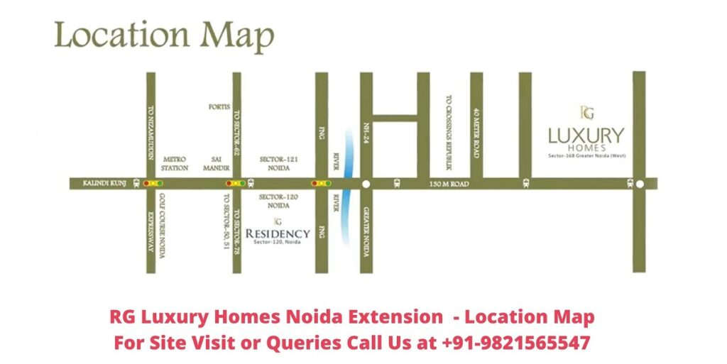 RG Luxury Homes Noida Extension Location Map