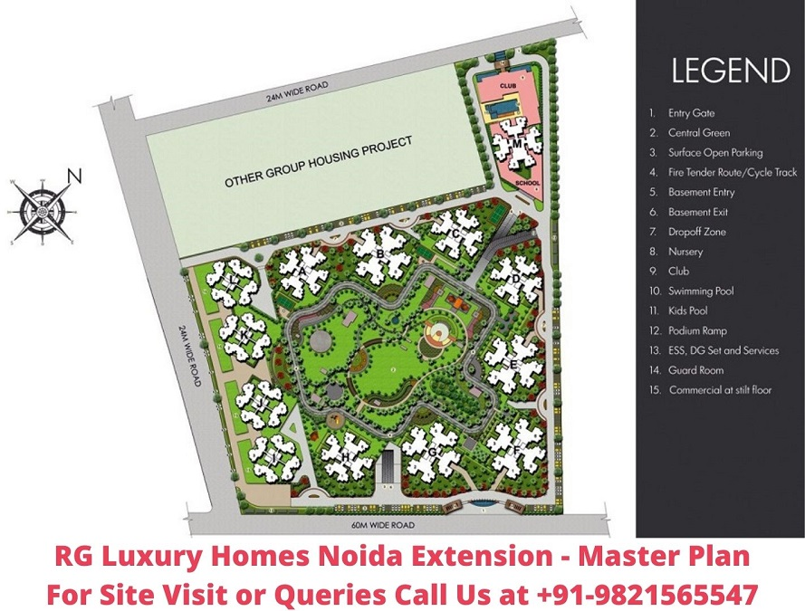 RG Luxury Homes Noida Extension Master Plan