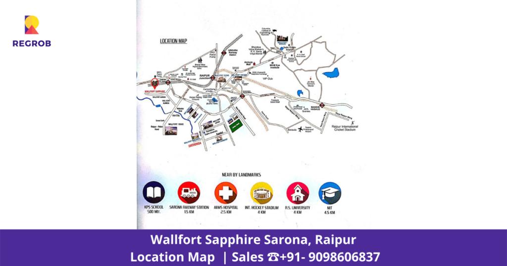 Wallfort Sapphire Sarona Raipur Master Plan